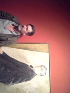 Your Humble Narrator in front of Clyfford Still Self-Portrait, Clyfford Still Museum