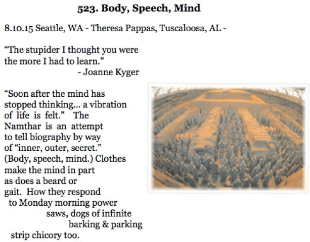 523. Body, Speech Mind