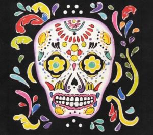 573. Skeleton Postcard Image