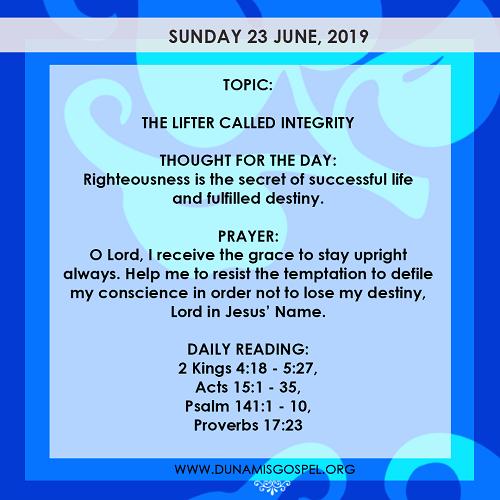 Seed of Destiny Devotional 23 June 2019