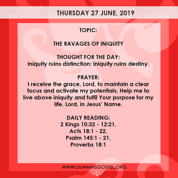 Seeds Of Destiny 27 June 2019 - THE RAVAGES OF INIQUITY