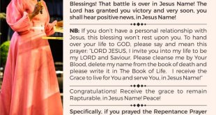 Daily Blessings Dr Becky Paul Enenche Sep
