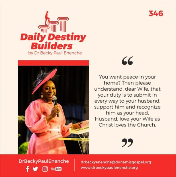 Daily Destiny Builders Dr Becky Paul Enenche