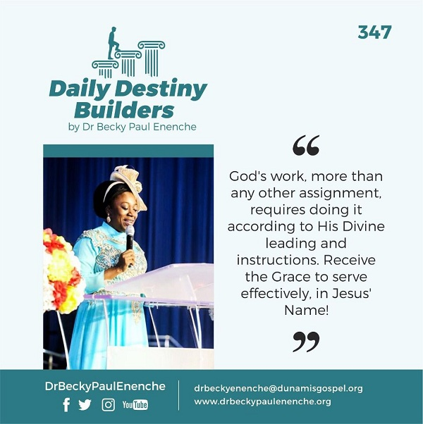 Daily Destiny Builders in dr becky enenche