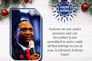 ARISE AND SHINE DR PAUL ENENCHE MESSAGES: