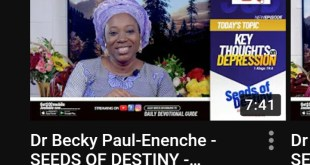 Dr Becky Paul-Enenche - SEEDS OF DESTINY - MONDAY OCTOBER 19, 2020