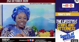 Dr Becky Paul-Enenche – SEEDS OF DESTINY – THURSDAY OCTOBER 22, 2020