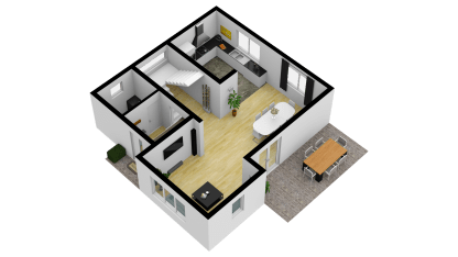 Vila Smart 3D Parter (Big kitchen) 3_SE