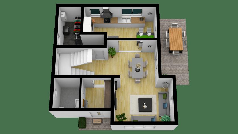 Vila Smart 3D Parter (Laundry) 1_Tilt