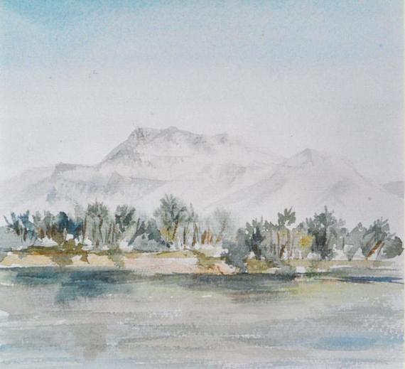 La montagne de la vallée des Rois - Egypte