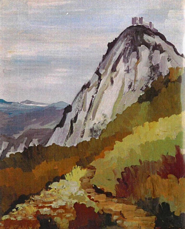 Montségur depuis la route de Montferrier - 09