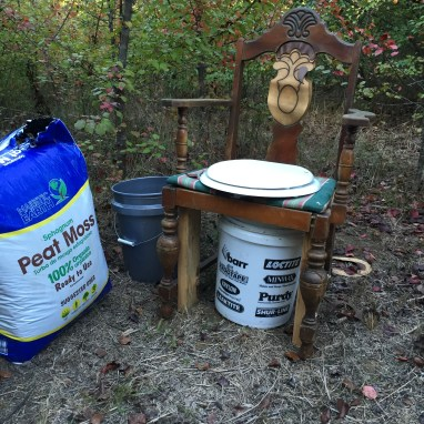 potty chair in the woods