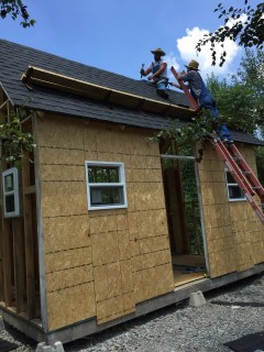 Tiny Cabin Roofing - Scott and Bobby Finishing