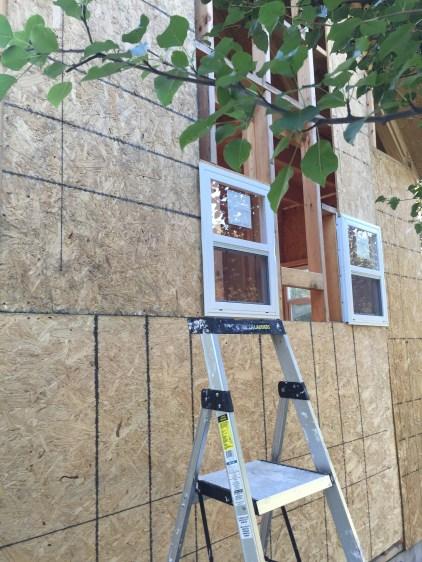 Tiny Cabin Side Wall in progress