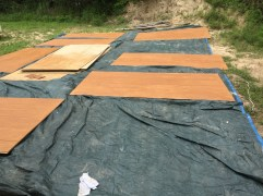 Stained Sheets of Siding