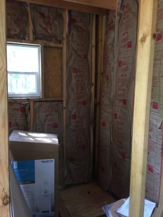 Tiny Cabin Bathroom Insulation