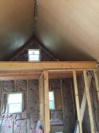 Tiny Cabin Ceiling Loft