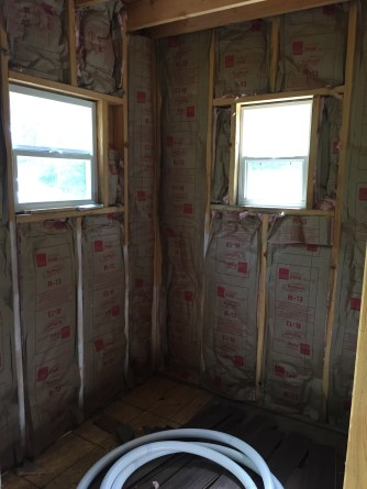 Tiny Cabin Kitchen Insulation