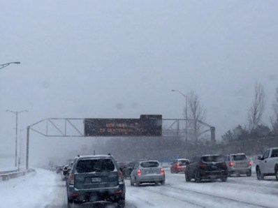 Winter Storm on the way to Niagara Falls.