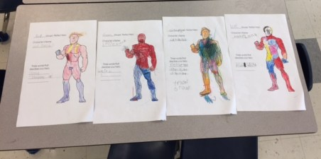 Male hero created by a group of students