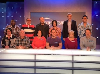 The Gorvins team with the Eggheads and Jeremy Vine