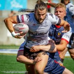 Liam Kay evades Sheffield Eagles