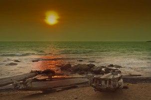 seascape, beach and sun