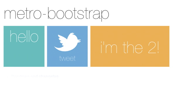 Metro Bootstrap - Another Time Saver