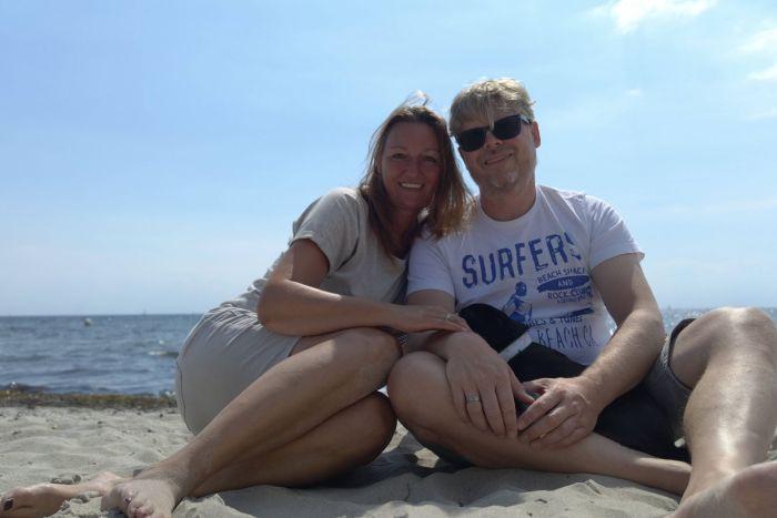 Ein letztes Strandselfie muss vor der Rückreise noch sein