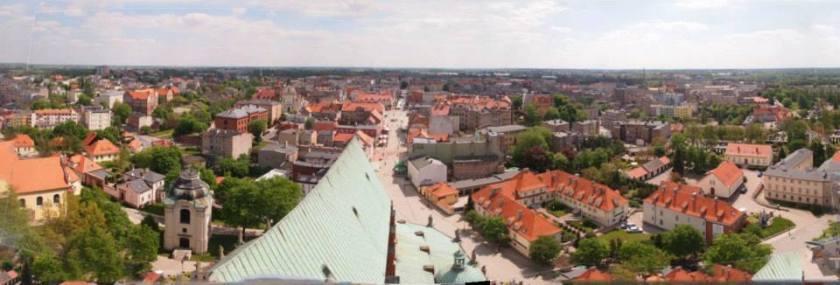 Panorámica desde el campanario de la catedral de Gniezno