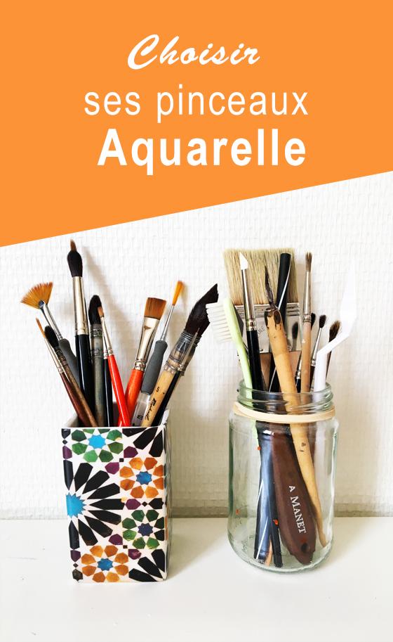 Choisir ses pinceaux aquarelle