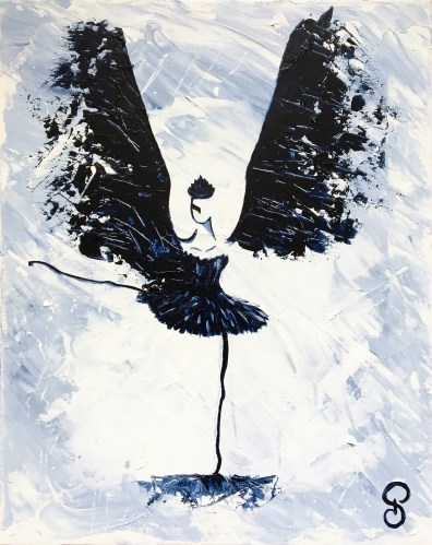 Black Bird - Peinture Acrylique