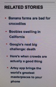 Google news feed went awry.