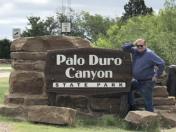 Greg at Palo Duro Canyon