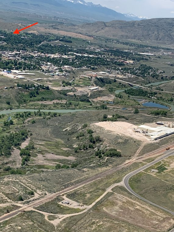 view of cody from plane