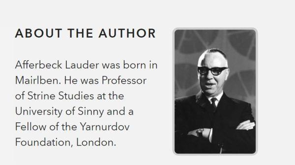 Mr Afferbeck Lauder