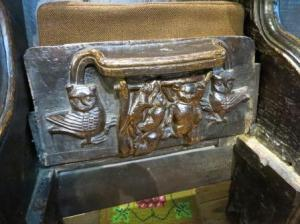 Misericord in Malvern's Priory Church
