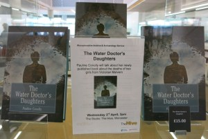 Book shop display for The Water Doctor's Daughters at The Hive