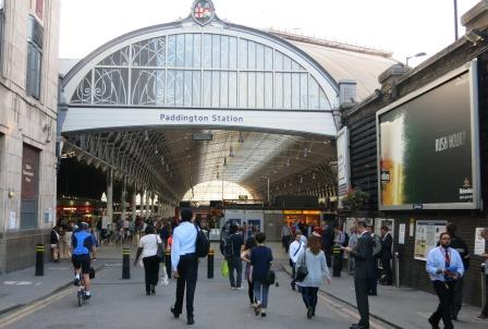 Homeward bound and happy as we approach Paddington Station.