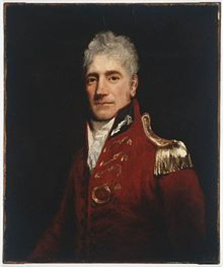Governor Lachlan Macquarie. His portable desk  ended up with the Porter family.