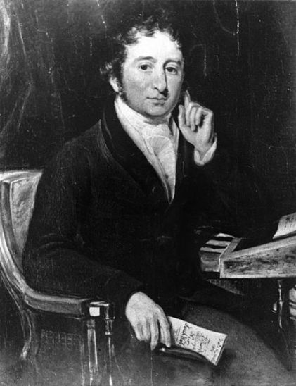 Commissioner John Bigge, thought to ne holding a copy of his damning report on Governor Macquarie.