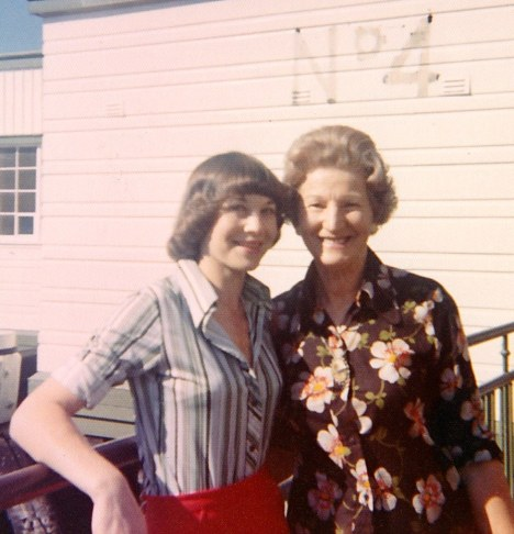With my mother Myra at Circular Quay, Sydney.