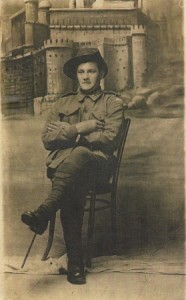 Private Arthur Singleton; returned from Gallipoli and about to fight in France.