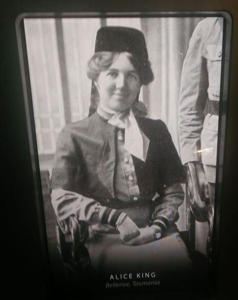Alice King, one of  two nurses who left with the Tasmanian 12th Battalion.