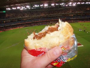 An Aussie Tradition; football and pies!
