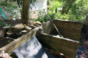 The compost bays.