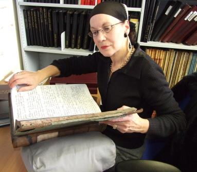 Immersed in solicitor William Spot's letter books.