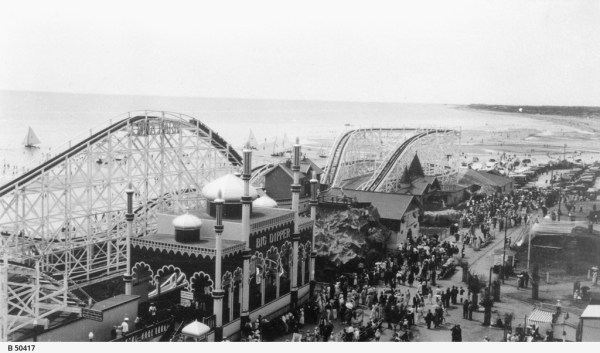 View of Luna Park, Glenelg, taken from the giant ferris wheel.