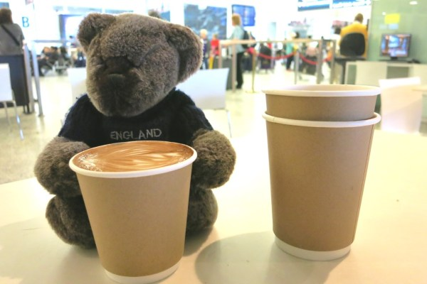 After a long flight, one cup of coffee is just not enough.
