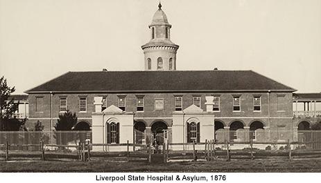 Liverpool Asylum, where the Flying Pieman died.